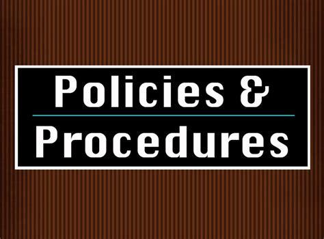 policies procedures vandercook college