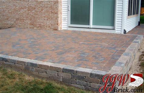 brick paver patio design garden ideas