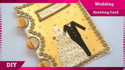 diy wedding greeting card handmade greeting card design