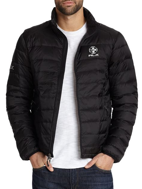 lyst polo ralph explorer jacket in black for