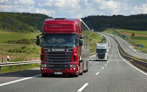 scania trucks   highway hd wallpaper