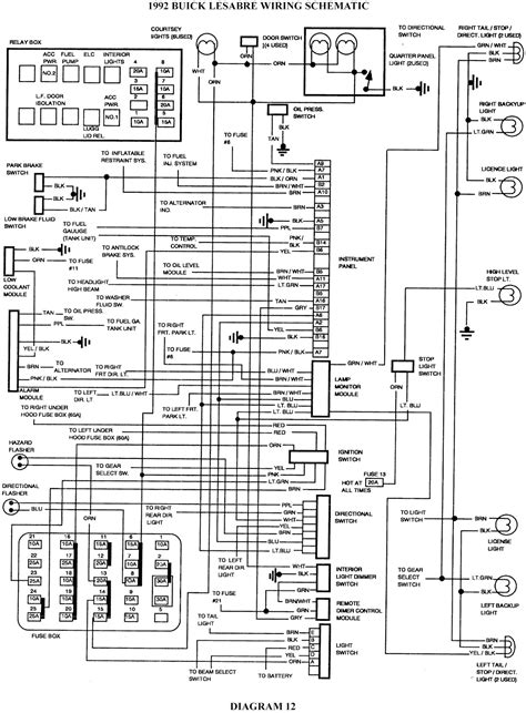 Stereo Fuse Box 1995 Civic Sedan by 1992 Buick Lesabre Schematic Wiring Diagrams Schematic