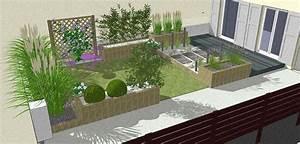 photo amenagement jardin idee deco jardin moderne With idee amenagement jardin de ville