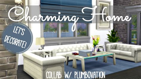 Sims 4 Home Interior Design :  Charming Family Home
