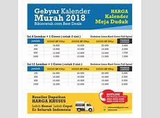 Cetak Kalender 2018 – Percetakan Murah Surabaya