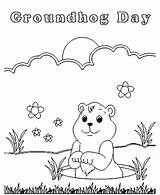 Groundhog Coloring Pages Printable Sheets Preschool Activity Animal Tracks Groundhogs Hog Ground Drawing Activities Happy Kindergarten Crafts Sheet February Printables sketch template