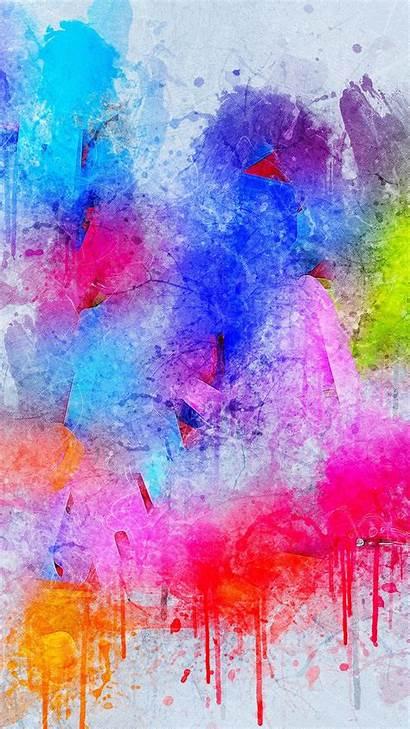 Paint Colorful Spots Splatter Iphone Background Lenovo