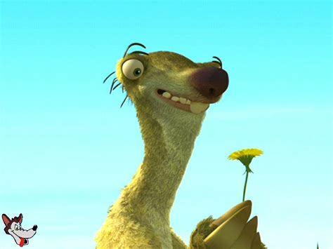Ice Age Sid With Dandelion