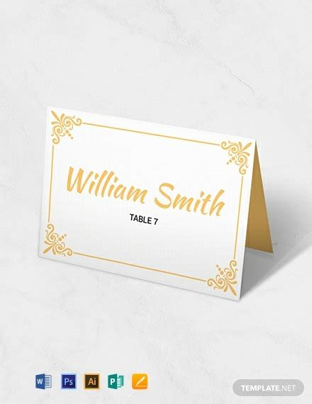 printable wedding table card template word
