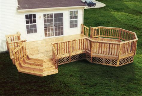 deck  octagon  stairs building plans