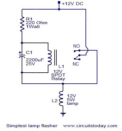 simplest l flasher circuit repository circuits