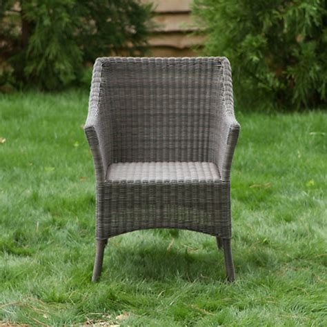 all weather wicker square back chair terrain