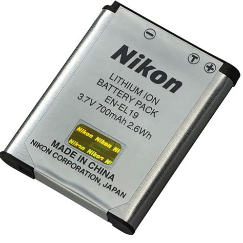 Nikon En El19 nikon en el19 lithium ion battery 700mah 25837 163 24 15