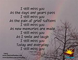 I still miss you A Poem | The Grief Toolbox