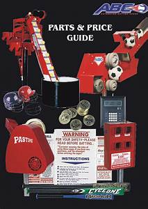 Parts Guides For Automated Batting Cages  Abc   U2013 U2013 2015 And