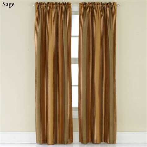 Striped Curtain Panels by Faux Silk Striped Curtain Panels