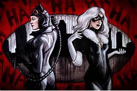 Black Cat And Catwoman...