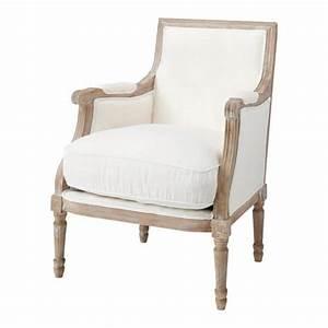 Fauteuil Suspendu Maison Du Monde : fauteuil en lin ivoire casanova maisons du monde ~ Premium-room.com Idées de Décoration