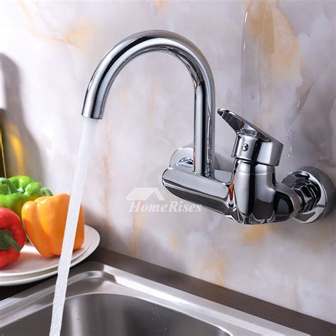 Kitchen Faucet Wall Mount Single Handle by Professional Kitchen Faucet Wall Mount Chrome Brass Single