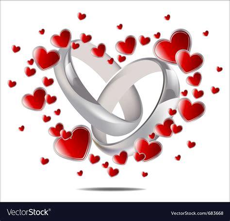 wedding rings  hearts royalty  vector image