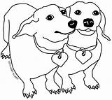 Template Coloring Dachshund Dog Pages Colouring Printable Adult Dachshunds Templates Its Pattern Colourful 0f Animal sketch template