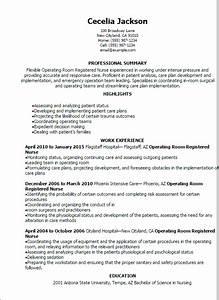 Professional Operating Room Registered Nurse Resume
