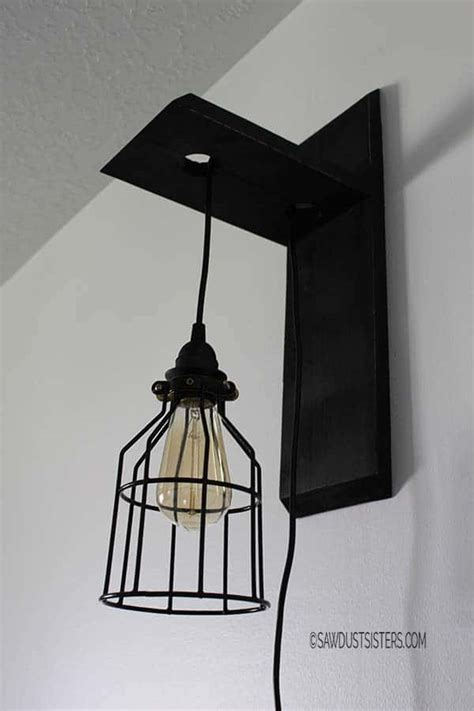 diy wall sconce 21 diy lighting ideas to brighten your home on a budget