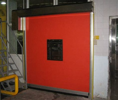 high fabric curtain high speed roll up door insulated