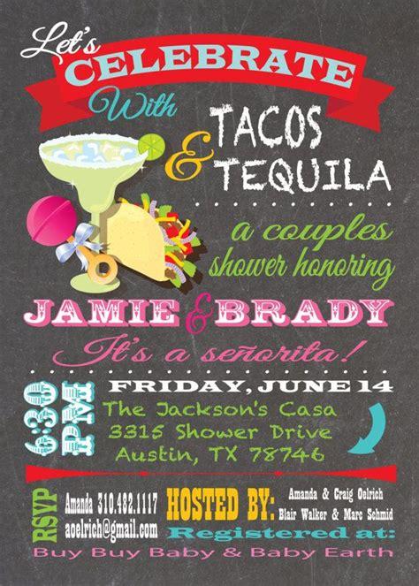 Fiesta Tacos And Tequila Couples  Ee  Baby Ee    Ee  Shower Ee   Invitations