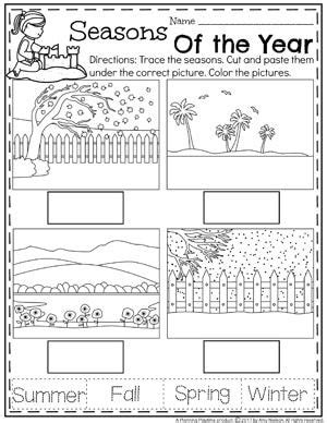 seasons worksheets for pre k summer preschool worksheets english classes seasons