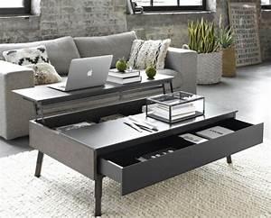 Table Basse Avec Plateau Relevable : les tables basses design multifonctions joli place ~ Teatrodelosmanantiales.com Idées de Décoration