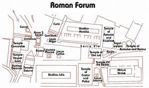 Pix For  U0026gt  The Roman Forum Map