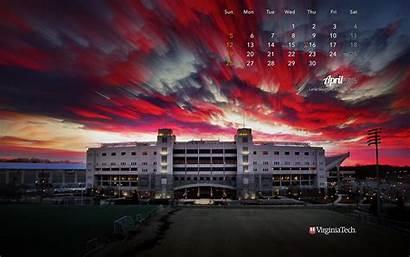 Tech Virginia Desktop Wallpapers Calendar Stadium April