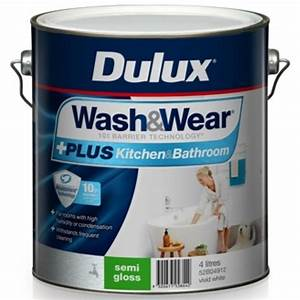 dulux wash wear plus semi gloss kitchen bathroom vivid With semi gloss or satin for bathroom