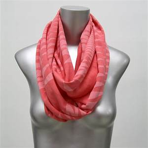 Coral Infinity Scarf Womens Head Neck Wrap Circle Scarf ...