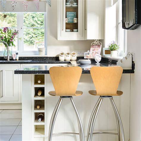 Cream Kitchen With Breakfast Bar  Kitchen Decorating