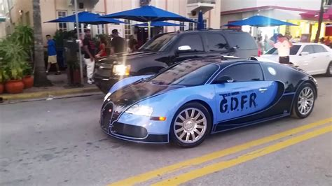 Flo Rida's Tron Bugatti Spotted In South Beach [video