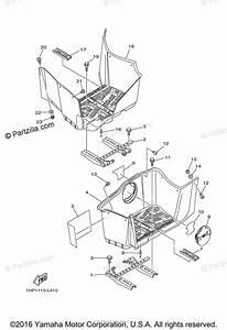 Yamaha Atv 2013 Oem Parts Diagram For Stand  Footrest