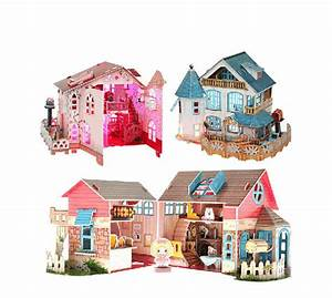 New Design DIY Toys 3D Puzzle Paper House With LED Light