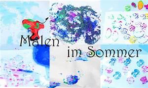 Malen Mit Kleinkindern Ideen : 6 kreative ideen zum malen im sommer mama kreativ ~ Watch28wear.com Haus und Dekorationen