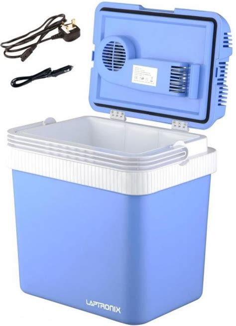 fan with ice compartment 24l portable cool box electric cooler car van ice fridge