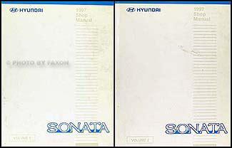 old cars and repair manuals free 1997 hyundai sonata instrument cluster 1997 hyundai sonata repair shop manual original 2 volume set