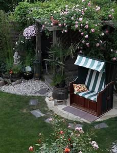 strandkorb foto bild landschaft garten With französischer balkon mit garten strandkorb