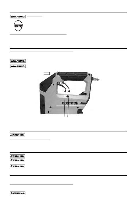 Bostitch Bostitch Pneumatic Stapler BTFP71875 User's
