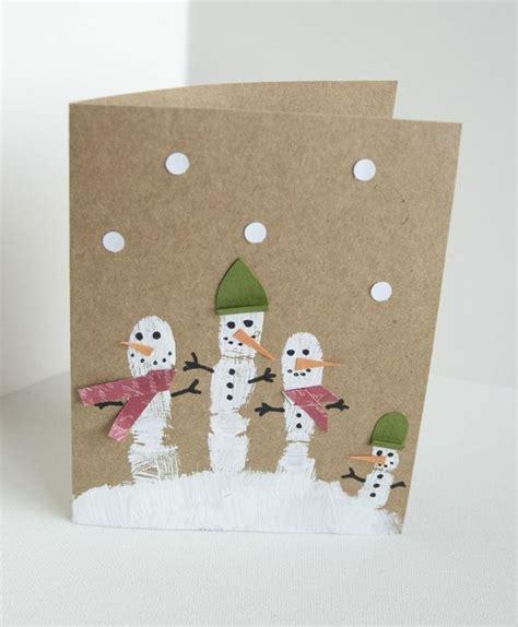basteln kleinkinder weihnachten kindern weihnachtskarten basteln fingerabdruck