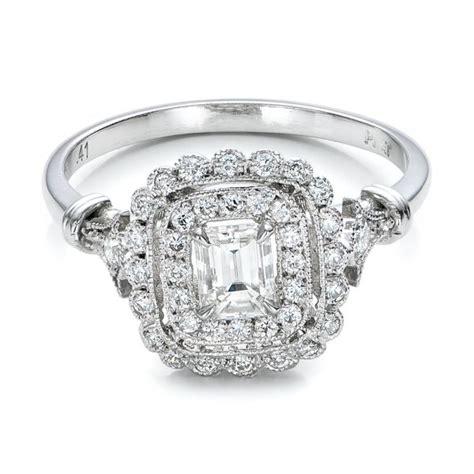estate halo engagement ring 100902 seattle bellevue joseph jewelry