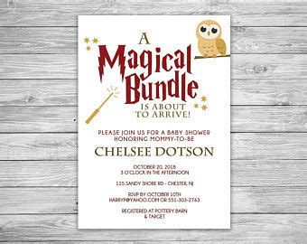 Harry Potter Baby Shower Invitations - harry potter baby shower invitations etsy