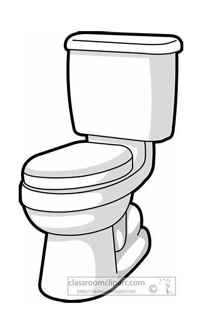 Toilet Clip Bathroom Clipart Funny Flush Cartoon