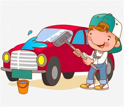 Clipart Washing Wash Boy Clip Cleaning Carro