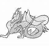 Dragon Sea Coloring Wyvern Coloringcrew Template Dragons Colorear sketch template